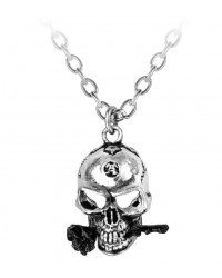 Alchemist Skull Pewter Dreadpunk Necklace Mystic Convergence Metaphysical Supplies Metaphysical Supplies, Pagan Jewelry, Witchcraft Supply, New Age Spiritual Store