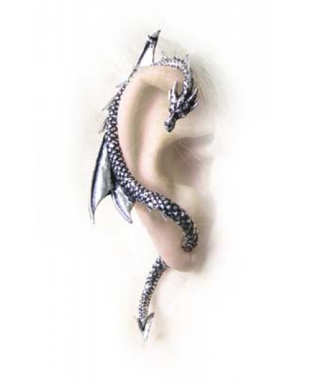 Dragons Lure Earring Wrap - Right Ear at Mystic Convergence Metaphysical Supplies, Metaphysical Supplies, Pagan Jewelry, Witchcraft Supply, New Age Spiritual Store