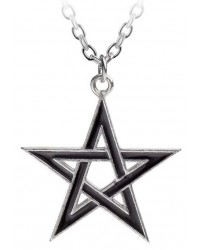 Black Star Pentagram Pendant with Chain Mystic Convergence Metaphysical Supplies Metaphysical Supplies, Pagan Jewelry, Witchcraft Supply, New Age Spiritual Store