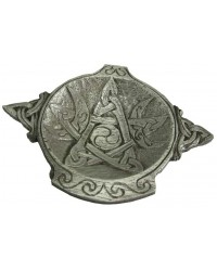 Moon Phase Pentacle Offering Bowl in Pewter Mystic Convergence Metaphysical Supplies Metaphysical Supplies, Pagan Jewelry, Witchcraft Supply, New Age Spiritual Store