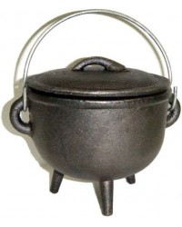 Cast Iron 4.5 Inch Witches Cauldron Mystic Convergence Metaphysical Supplies Metaphysical Supplies, Pagan Jewelry, Witchcraft Supply, New Age Spiritual Store