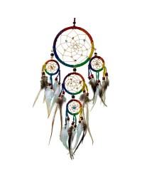 Rainbow Leather Dreamcatcher Mystic Convergence Metaphysical Supplies Metaphysical Supplies, Pagan Jewelry, Witchcraft Supply, New Age Spiritual Store