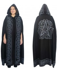Pentacle Black Hooded Cloak Mystic Convergence Metaphysical Supplies Metaphysical Supplies, Pagan Jewelry, Witchcraft Supply, New Age Spiritual Store