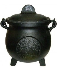 Tree of Life Potbelly 5.5 Inch Witches Cauldron Mystic Convergence Metaphysical Supplies Metaphysical Supplies, Pagan Jewelry, Witchcraft Supply, New Age Spiritual Store