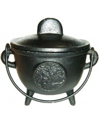 Tree of Life Cast Iron 4.5 Inch Witches Cauldron Mystic Convergence Metaphysical Supplies Metaphysical Supplies, Pagan Jewelry, Witchcraft Supply, New Age Spiritual Store