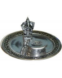 Ganesh with Altar Metal Incense Burner Mystic Convergence Metaphysical Supplies Metaphysical Supplies, Pagan Jewelry, Witchcraft Supply, New Age Spiritual Store