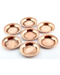 Copper Offering Plate Set of 7 Mystic Convergence Metaphysical Supplies Metaphysical Supplies, Pagan Jewelry, Witchcraft Supply, New Age Spiritual Store