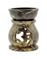 Om Carved Soapstone Oil Burner Mystic Convergence Metaphysical Supplies Metaphysical Supplies, Pagan Jewelry, Witchcraft Supply, New Age Spiritual Store