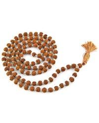 Rudraksha and Silver Prayer Mala Mystic Convergence Metaphysical Supplies Metaphysical Supplies, Pagan Jewelry, Witchcraft Supply, New Age Spiritual Store