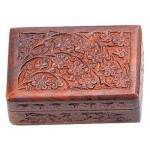 Floral Carved Wooden 6 Inch Box at Mystic Convergence Metaphysical Supplies, Metaphysical Supplies, Pagan Jewelry, Witchcraft Supply, New Age Spiritual Store