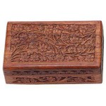 Floral Carved Wooden 8 Inch Box at Mystic Convergence Metaphysical Supplies, Metaphysical Supplies, Pagan Jewelry, Witchcraft Supply, New Age Spiritual Store