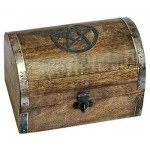 Pentacle Wooden Chest at Mystic Convergence Metaphysical Supplies, Metaphysical Supplies, Pagan Jewelry, Witchcraft Supply, New Age Spiritual Store