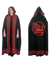 Red Dragon Black Hooded Cloak Mystic Convergence Metaphysical Supplies Metaphysical Supplies, Pagan Jewelry, Witchcraft Supply, New Age Spiritual Store