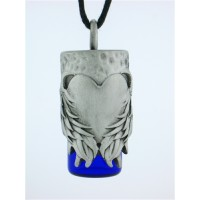 Angels Heart Pewter Bottle Necklace