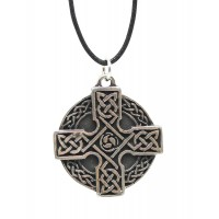 Celtic Cross Necklace in Pewter or Brass
