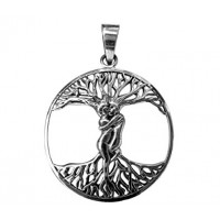 Lovers Tree of Life Sterling Silver Pendant