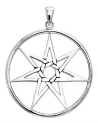 Elven 7 Pointed Star Large Pendant in Sterling Silver Mystic Convergence Metaphysical Supplies Metaphysical Supplies, Pagan Jewelry, Witchcraft Supply, New Age Spiritual Store