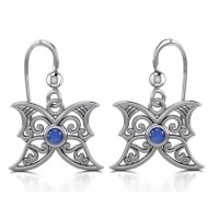 Sapphire Blue Moon Silver Earrings