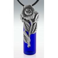 Rose Memorial Vial Necklace