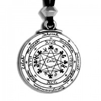 Pentacle of Solomon Talisman Pewter Necklace