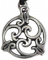 Triscele Celtic Spiral Pewter Necklace in 2 Sizes Mystic Convergence Metaphysical Supplies Metaphysical Supplies, Pagan Jewelry, Witchcraft Supply, New Age Spiritual Store