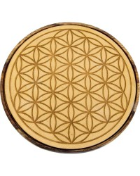 Flower of Life Wood Crystal Grid Mystic Convergence Metaphysical Supplies Metaphysical Supplies, Pagan Jewelry, Witchcraft Supply, New Age Spiritual Store