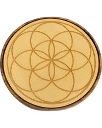 Seed of Life Wood Crystal Grid Mystic Convergence Metaphysical Supplies Metaphysical Supplies, Pagan Jewelry, Witchcraft Supply, New Age Spiritual Store