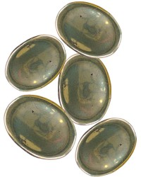 Pyrite Worry Stone Mystic Convergence Metaphysical Supplies Metaphysical Supplies, Pagan Jewelry, Witchcraft Supply, New Age Spiritual Store