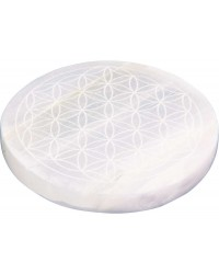 Flower of Life Selenite Charging Disk Mystic Convergence Metaphysical Supplies Metaphysical Supplies, Pagan Jewelry, Witchcraft Supply, New Age Spiritual Store