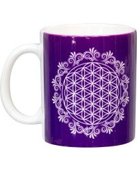 Flower of Life Purple Ceramic Mug Mystic Convergence Metaphysical Supplies Metaphysical Supplies, Pagan Jewelry, Witchcraft Supply, New Age Spiritual Store
