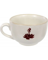 Lotus Om Cappuccino Cup Mystic Convergence Metaphysical Supplies Metaphysical Supplies, Pagan Jewelry, Witchcraft Supply, New Age Spiritual Store