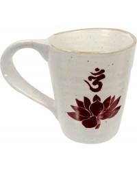 Lotus Om 10 oz Ceramic Mug Mystic Convergence Metaphysical Supplies Metaphysical Supplies, Pagan Jewelry, Witchcraft Supply, New Age Spiritual Store