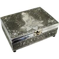 Medicine Buddha Embossed Metal Box