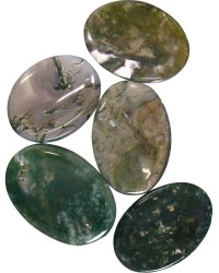 Moss Agate Worry Stone Mystic Convergence Metaphysical Supplies Metaphysical Supplies, Pagan Jewelry, Witchcraft Supply, New Age Spiritual Store