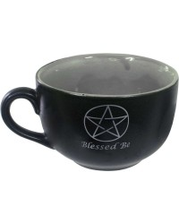 Blessed Be Pentacle Cappuccino Cup Mystic Convergence Metaphysical Supplies Metaphysical Supplies, Pagan Jewelry, Witchcraft Supply, New Age Spiritual Store