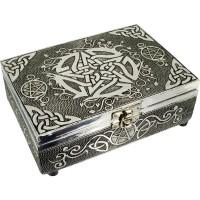 Pentacle Embossed Metal Box