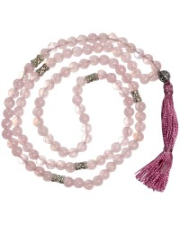 Rose Quartz Prayer Bead Mala with Counters Mystic Convergence Metaphysical Supplies Metaphysical Supplies, Pagan Jewelry, Witchcraft Supply, New Age Spiritual Store
