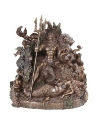 King Neptune Grotto Statue by Derek W Frost Mystic Convergence Metaphysical Supplies Metaphysical Supplies, Pagan Jewelry, Witchcraft Supply, New Age Spiritual Store