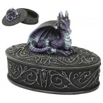 Purple Dragon Trinket Box at Mystic Convergence Metaphysical Supplies, Metaphysical Supplies, Pagan Jewelry, Witchcraft Supply, New Age Spiritual Store