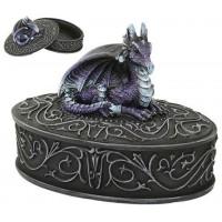 Purple Dragon Trinket Box