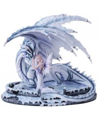 Ice Dragon with Fairy Statue Mystic Convergence Metaphysical Supplies Metaphysical Supplies, Pagan Jewelry, Witchcraft Supply, New Age Spiritual Store