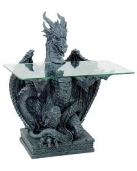 Dragon Glass Top Side Table Mystic Convergence Metaphysical Supplies Metaphysical Supplies, Pagan Jewelry, Witchcraft Supply, New Age Spiritual Store