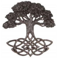 Tree of Life Celtic Knot Bronze Plaque