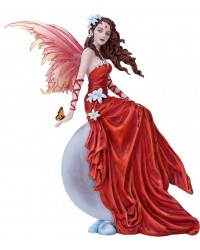 Crimson Lilly Fairy Statue Mystic Convergence Metaphysical Supplies Metaphysical Supplies, Pagan Jewelry, Witchcraft Supply, New Age Spiritual Store