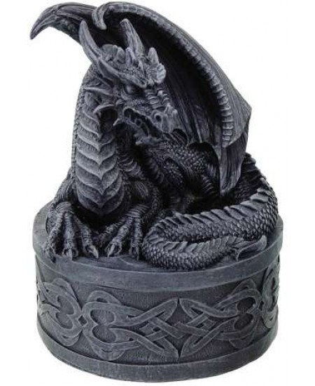 Celtic Dragon Round Treasure Box at Mystic Convergence Metaphysical Supplies, Metaphysical Supplies, Pagan Jewelry, Witchcraft Supply, New Age Spiritual Store