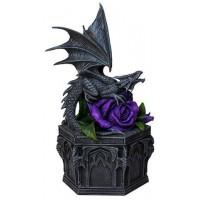 Dragon Beauty Purple Rose Trinket Box