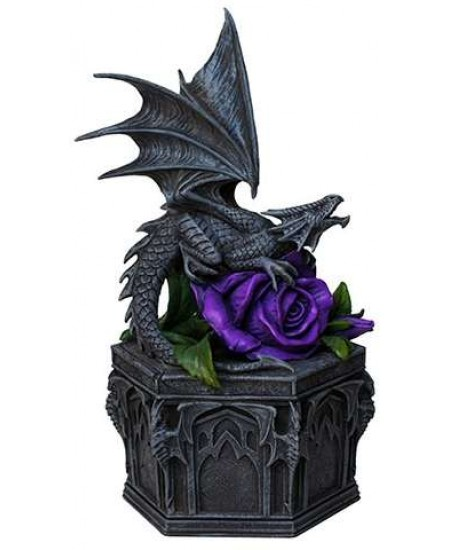 Dragon Beauty Purple Rose Trinket Box at Mystic Convergence Metaphysical Supplies, Metaphysical Supplies, Pagan Jewelry, Witchcraft Supply, New Age Spiritual Store