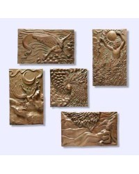 The Five Elements Plaque Set by Ann Zeleny Mystic Convergence Metaphysical Supplies Metaphysical Supplies, Pagan Jewelry, Witchcraft Supply, New Age Spiritual Store