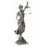 Lady Justice with Scales Bronze Statue