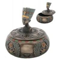 Nefertiti Egyptian Round Trinket Box